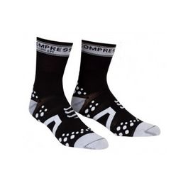 Calcetin Compressport Bike V2 Blanco/NEgro